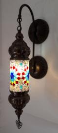 Mozaïeken cilinder wandlamp multicolor