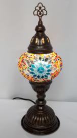 Tafellamp 13cm MC turquoise/zilver