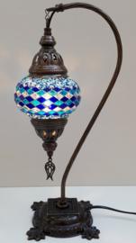 Tafellamp 13cm 'zwaan' R-blauw