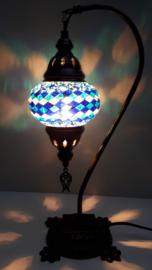 Tafellamp 13cm lantaarn R-blauw