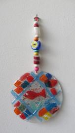 Wanddecoratie glasmozaiek Visje