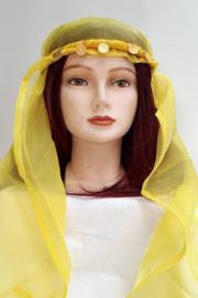 hoofdbandje met geel sluiertje