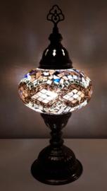 Tafellamp 16 cm lichtbruin/aubergine