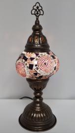 Tafellamp 13cm paars/roze 5R