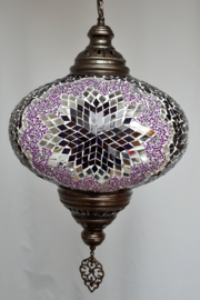 Grote mozaieklamp 35cm paars