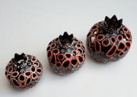 waxinelichthouders granaatappel -zwart, vanaf: