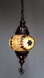 Mozaïek hanglamp 13cm bruin/zwart