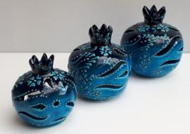 waxinelichthouders granaatappel -blauw vanaf: