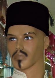 fez traditoneel zwart