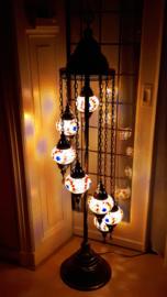 Mozaïek vloerlamp (met 7 bollen)