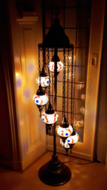 Mozaïek vloerlamp (7 bollen)