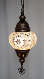 Mozaïek hanglamp 13cm wit 4B