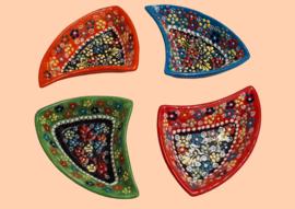 keramieken schaaltjes 'driehoek'