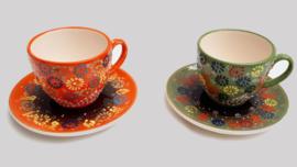 kop en schotel keramiek