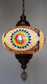 Grote hanglamp mozaïek 35cm multicolor