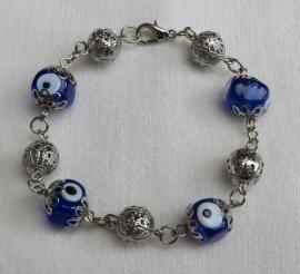 armbandje Boze oog 97 blauw