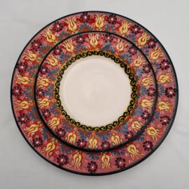 borden keramiek 18 of 26cm rood, prijs vanaf