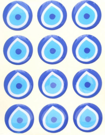 Boze oog stickers 30 mm