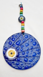 Wanddecoratie glasmozaiek 16 blauw