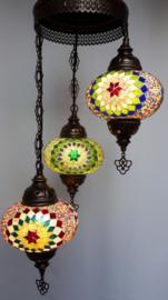 Mozaiek hanglamp 3-bollen 16cm 3kleuren