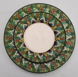 borden keramiek 18 of 26cm groen1, prijs vanaf