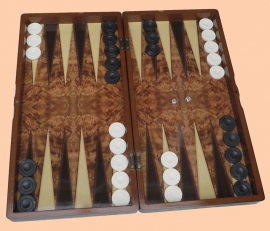 Backgammon walnoot (Tavla)