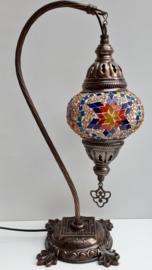 Tafellamp 13cm 'zwaan' multicolor B-3BOG