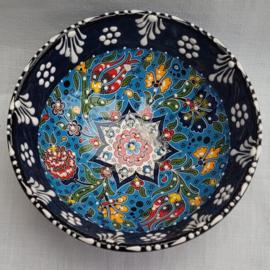 keramieken schaaltjes 12cm donkerblauw