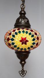 Mozaïek hanglamp 16cm multicolor 3RTG-GR