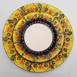 borden keramiek 18 of 26cm geel3, prijs vanaf