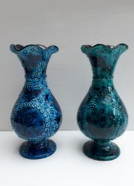 keramieken vazen (blauw of groen)