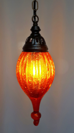 Hanglamp geblazen glas oranje