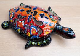 Schildpad keramiek oranje/rood