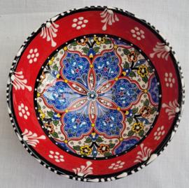 keramieken schaaltjes 12cm rood