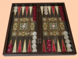 Backgammon parelmoer (Tavla)