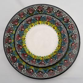 borden keramiek 18 of 26cm donkergroen, prijs vanaf