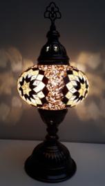 Tafellamp 16 cm goud/geel-zwart