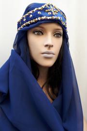1001-nacht kroontje met 2 polsbandjes blauw