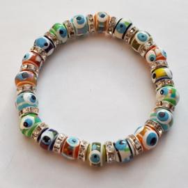 armbandje gekleurde 'Boze oogjes'