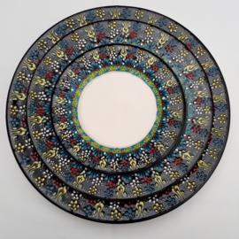 borden keramiek zwart 3maten, prijs vanaf: