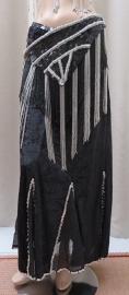 fluwelen rok zwart/zilver