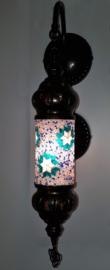 Mozaïeken cilinder wandlamp groen