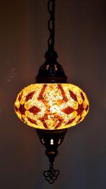 Mozaïek hanglamp 16cm goudbruin