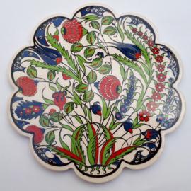 onderzetter keramiek 18cm bloem 10