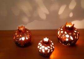 waxinelichthouders granaatappel -oranje, vanaf: