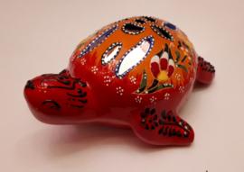 waxinelichthouder Schildpad oranje