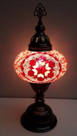 Tafellamp 16 cm roze/rood ster