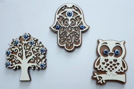 magneten van hout