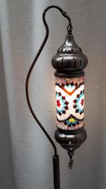 Mozaïek vloerlamp multicolor (cilinder)