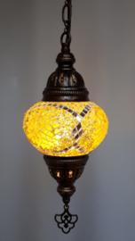 Mozaïek hanglamp 13cm geel